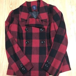 GAP buffalo plaid coat